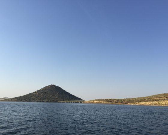 Pêche sur le lac de la Serena, Extremadure, Espagne