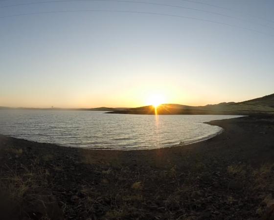 Pêhce sur le lac de la Serena, Extremadure, Espagne