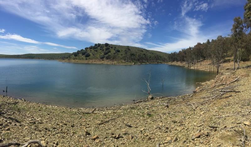 Pêche sur le lac de la Serena
