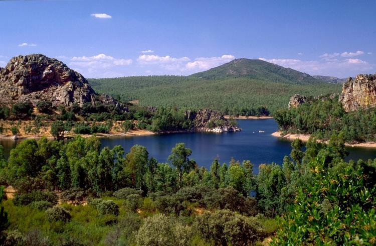 Pêche sur le lac de la Cijara, Extremadure