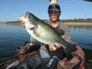 Pêche au black bass, Extremadura, Espagne