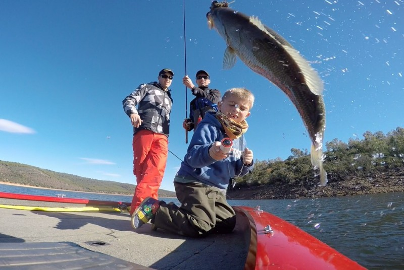 Pêche en famille en Espagne